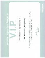 Bombardier VIP Certificate