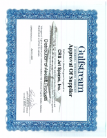 Gulfstream Supplier Certificate
