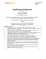 Hawker Beechcraft Supplier Certificate