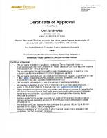 Hawker Beechcraft Supplier Certificate